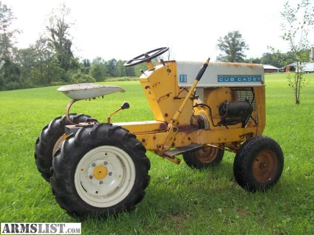 Armslist For Sale Trade Ih Cub Cadet Model 71 Vintage Garden Tractor Trade For Shotgun Rifle