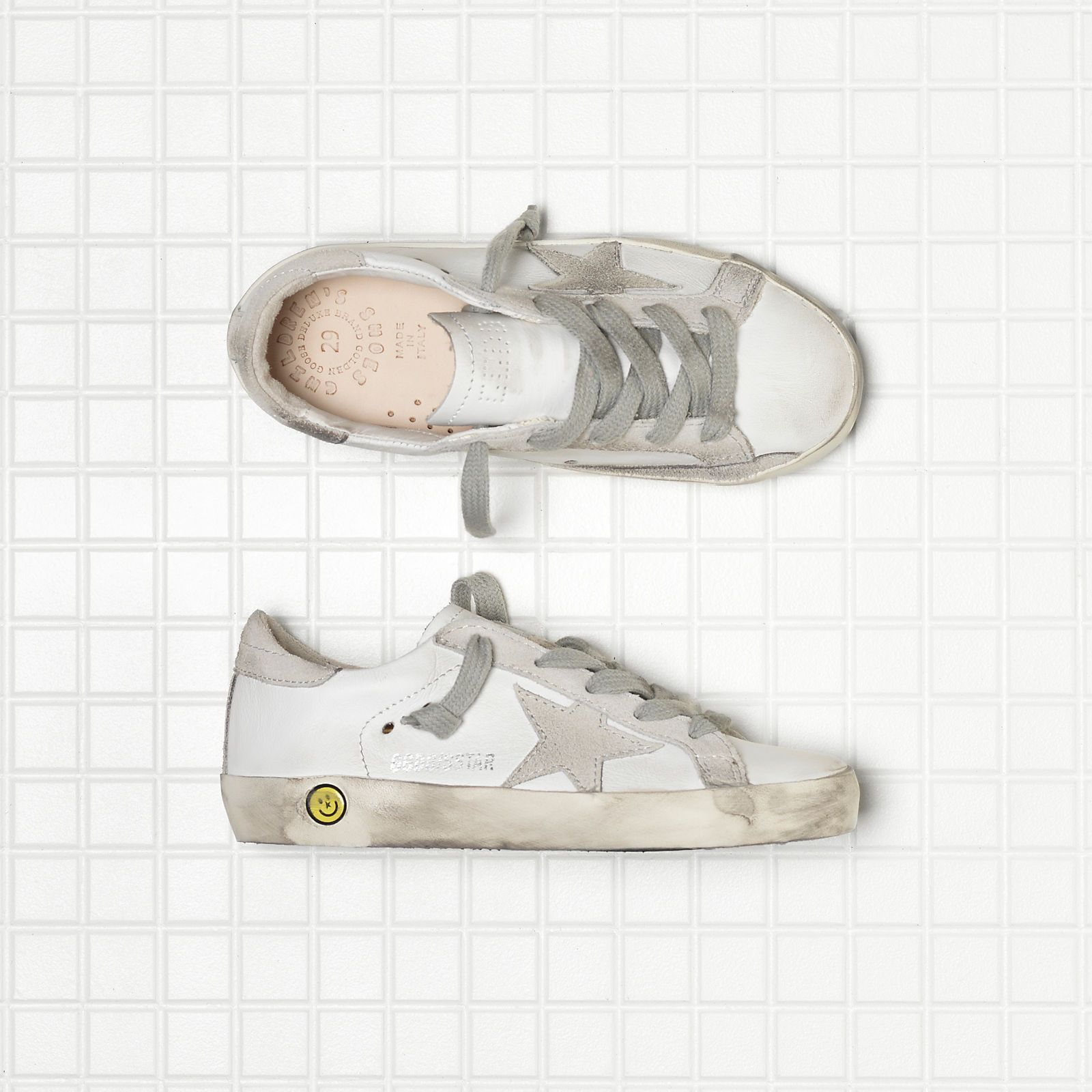 SUPER STAR sneakers in leather with suede star - GCOKS301.A1 - Golden Goose - VENICE Brand