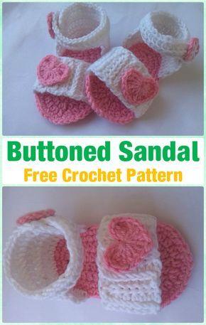 Crochet Baby Buttoned Sandal Free Pattern Crochet Baby Flip Flop