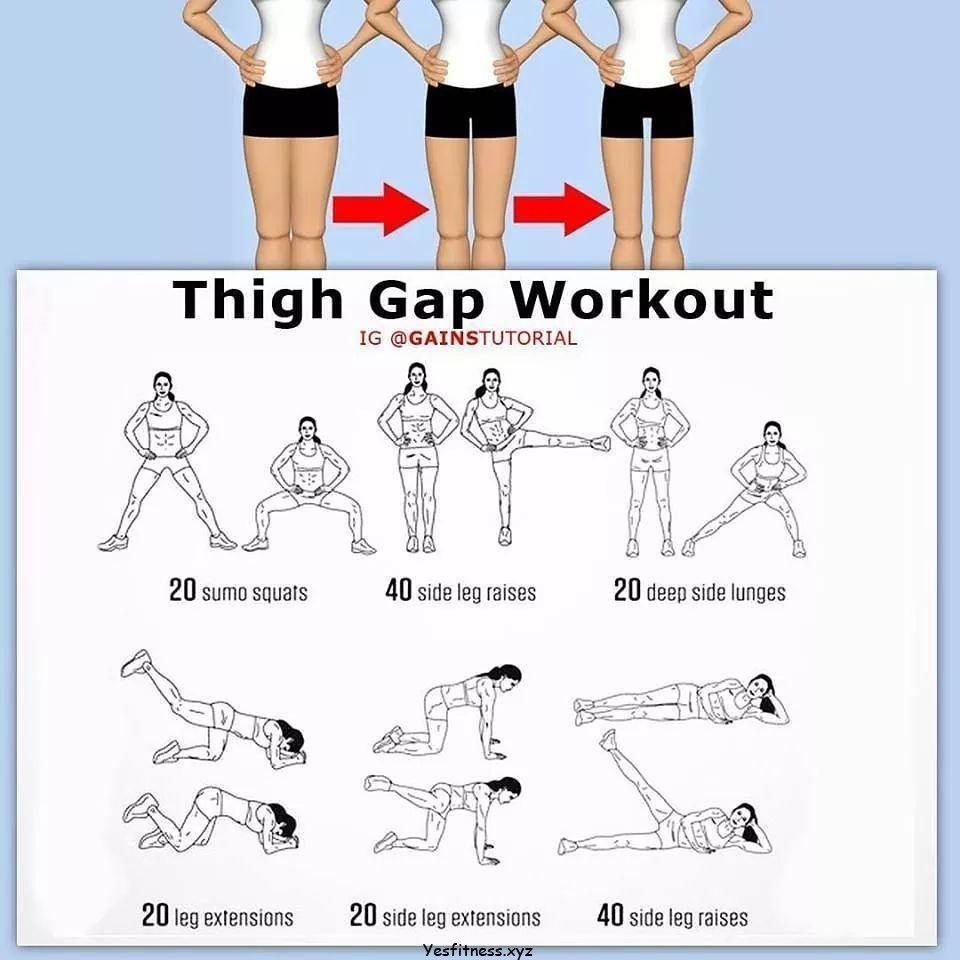 Inner Thigh Workout Female Fit Body  Workout motivation
