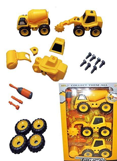 Kiwi Kool Boys 3-5 Take Apart Construction Trucks Toy for ...