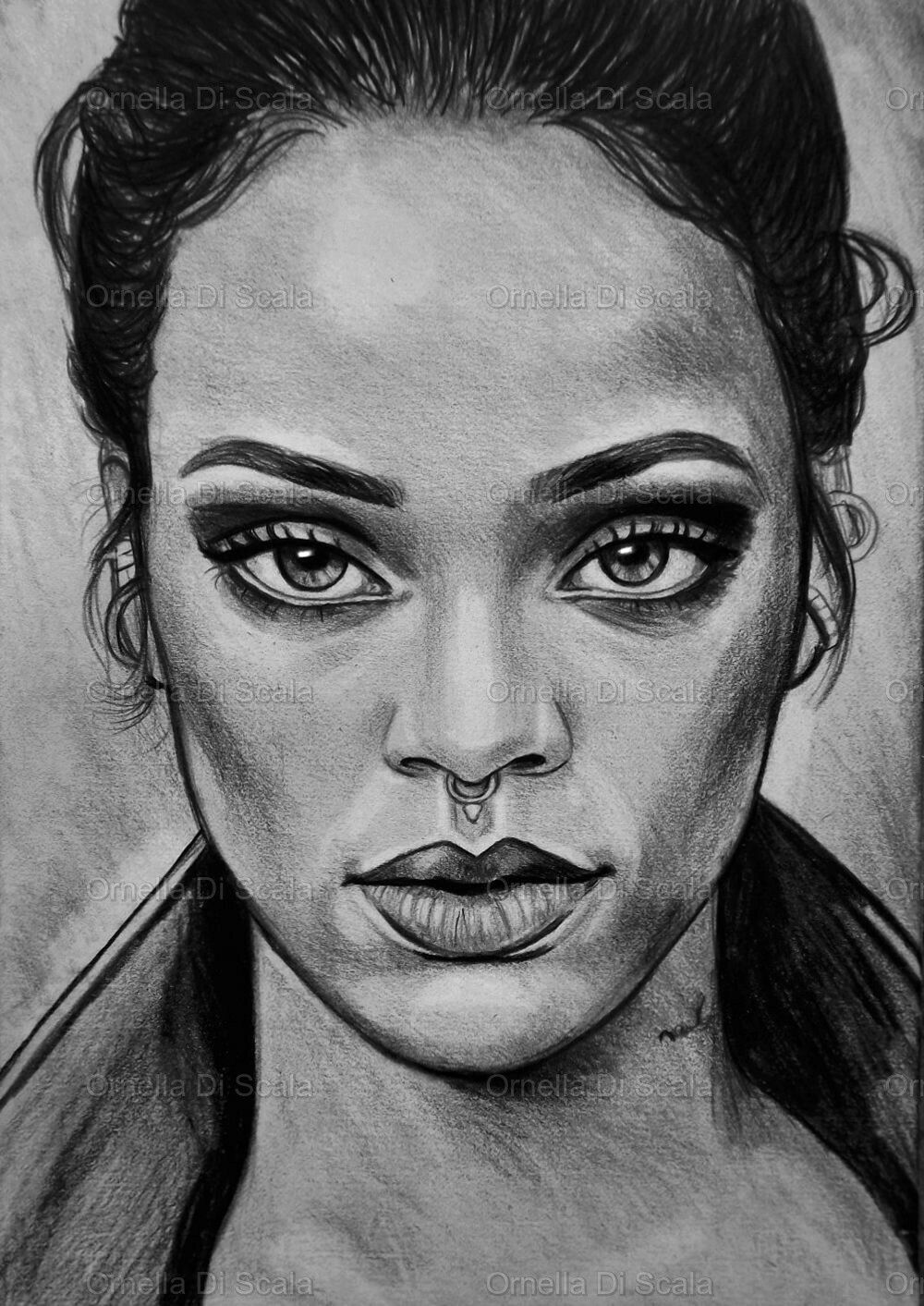 Rihanna Sketch How To Draw Hands Celebrity Drawings Portrait Drawing