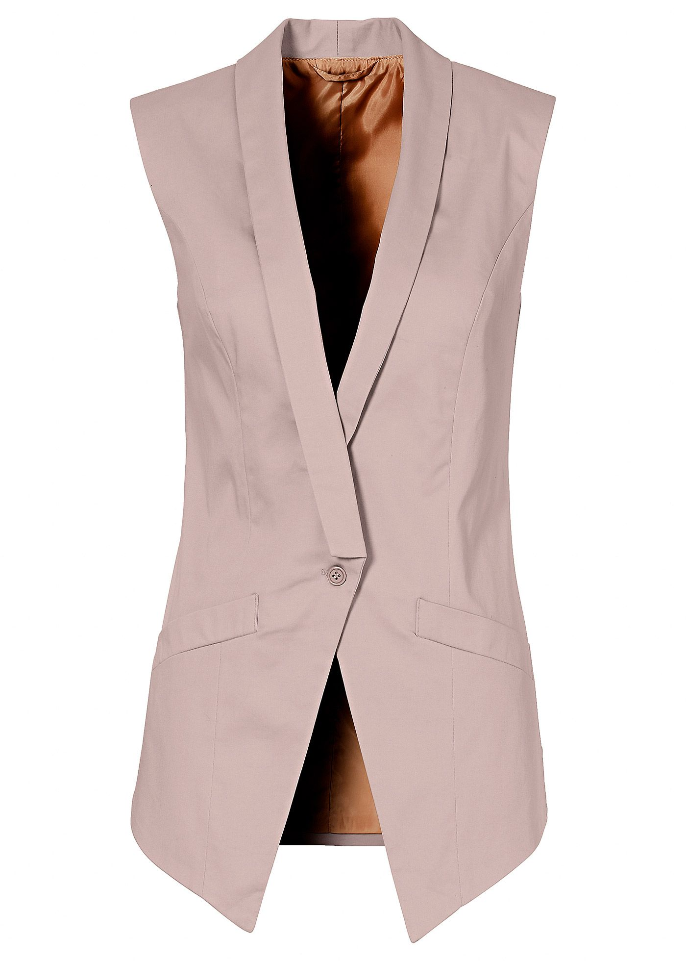 27d695ede0 maxi Colete nude - Moda Feminina trabalho e formal. linda alfaiataria para  look escritório
