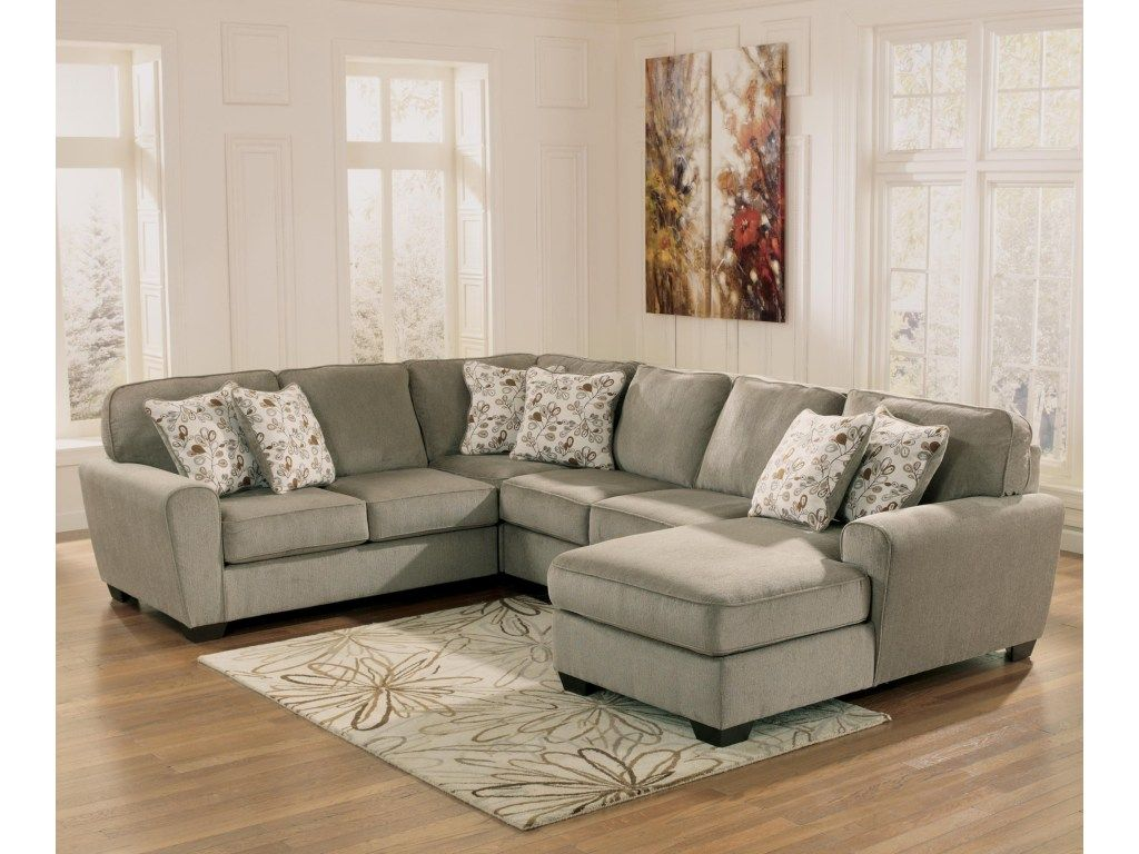 Ashley Furniture Patola Park Patina 4 Piece Small Sectional With Right Chaise Del Sol Furniture Sofa Sectional Ashley Furniture Sectional Sofa Furniture