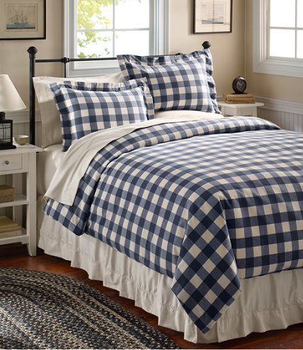 Ultrasoft Comfort Flannel Comforter Cover Plaid Comforter Covers Free Shipping At L L Bean Comforter Cover Comfortable Bedroom Home