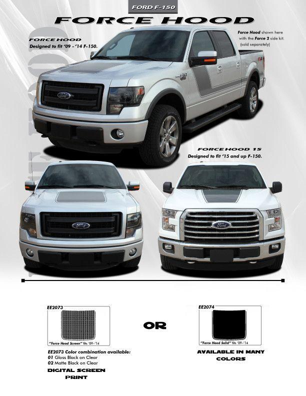 2009 2014 Ford F 150 Hood Graphics Force Hood Digital Print Or 3m Ford F150 Ford Ford Trucks