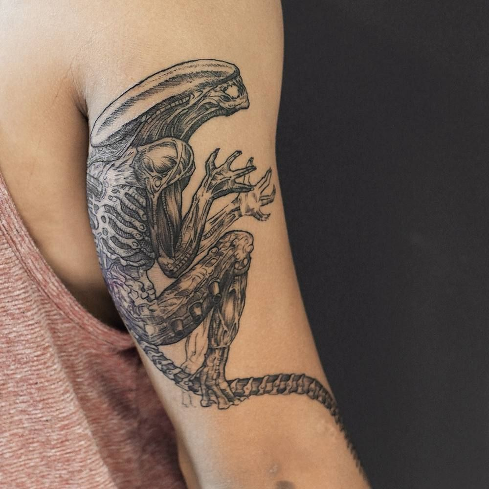 Ektattoos Had A Blast Doing This Xenomorph On At Juantonamobae