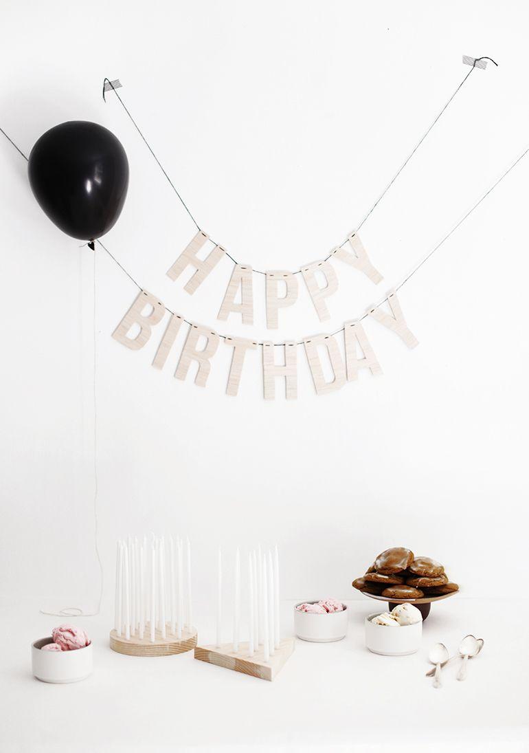 DIY Birthday Candle Display