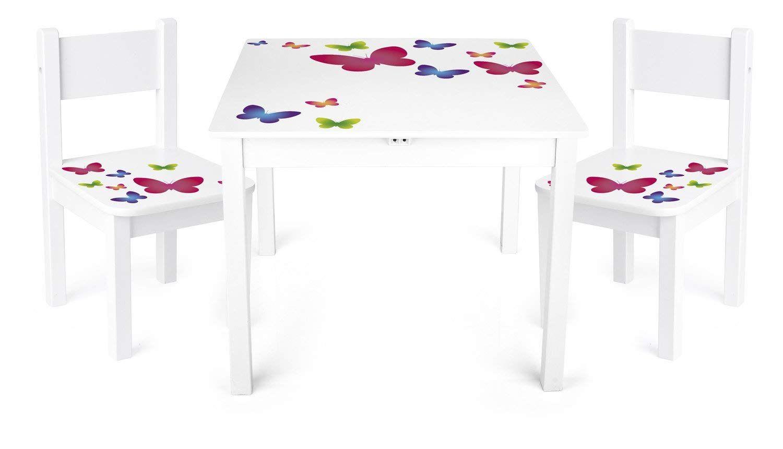 Kindertisch Set Kindersitzgruppe Kindertisch mit 2 Stühle Kinderstuhl Möbel