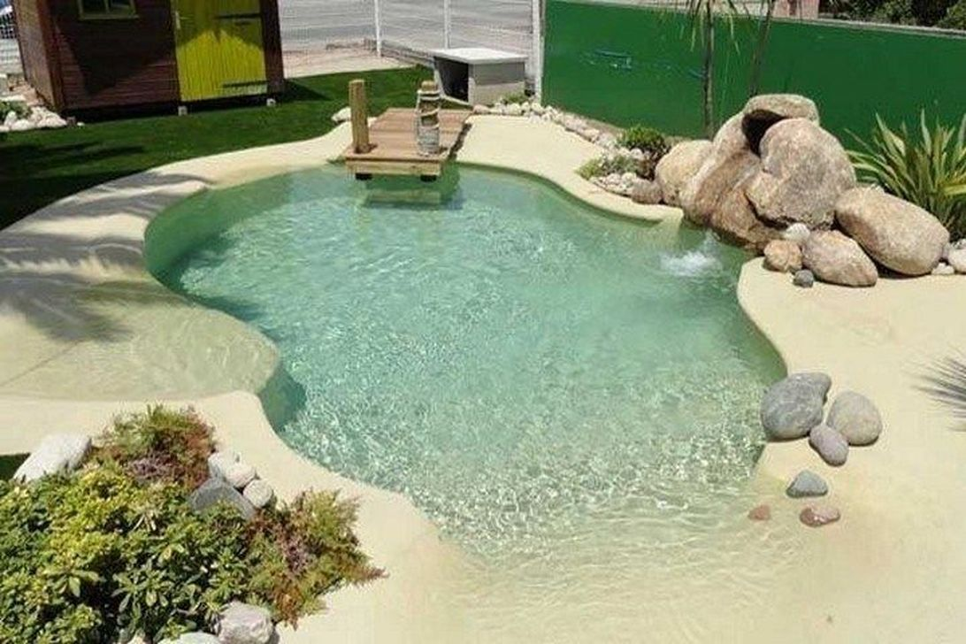 20 Top Natural Small Pool Design Ideas To Copy Asap Small Pool Design Swimming Pool Designs Beach Entry Pool