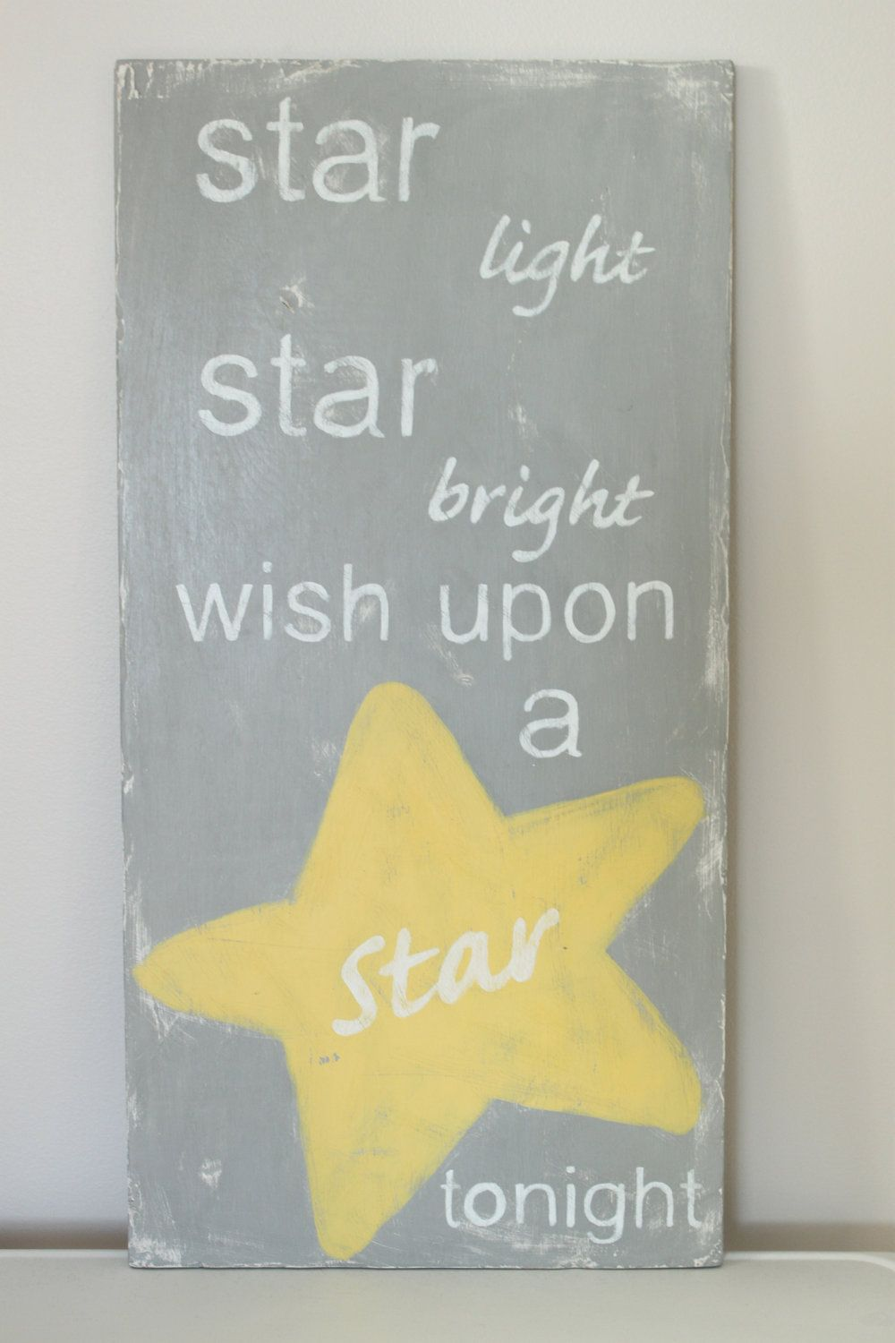 Wood Wall Art SignVintage Style Wish Upon A Star Quote by InMind4U ...