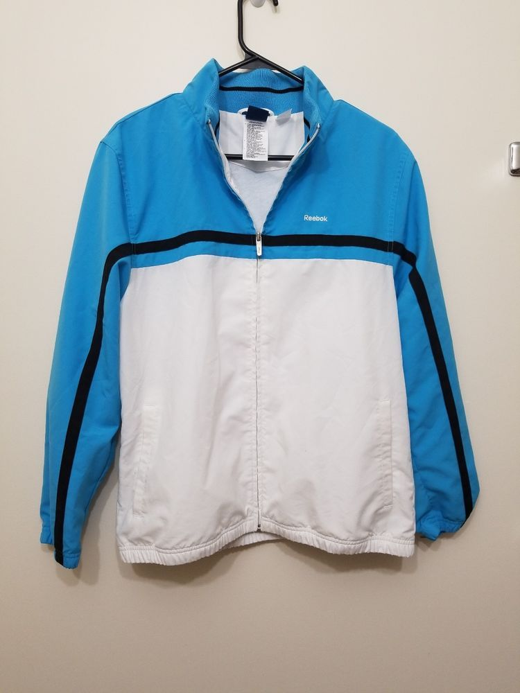 48b130faa9e Size L Reebok classic Zip up Light Blue .  fashion  clothing  shoes   accessories  mensclothing  activewear (ebay link)