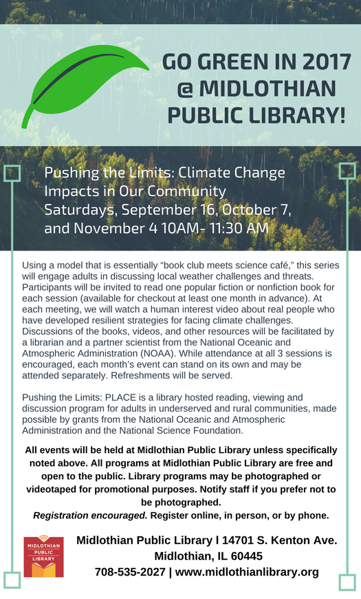 Pin by Midlothian Public Library on Go Green in 2017 | Pinterest ...