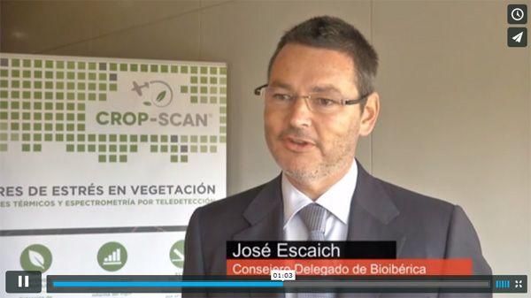 """Vídeonoticia sobre la nueva tecnología Crop-Scan©. José Escaich: """"El agricultor ya puede anticiparse al problema del estrés del cultivo"""": https://vimeo.com/Bioiberica/cropscan"""
