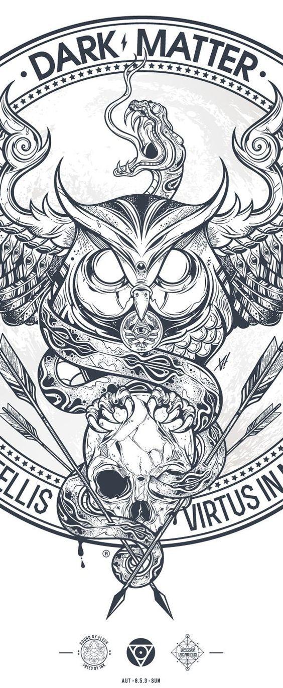 Tattoo inspiration... DUST & ECHO ( Fides in Stelis / Virtus in Numeris ) on Behance: