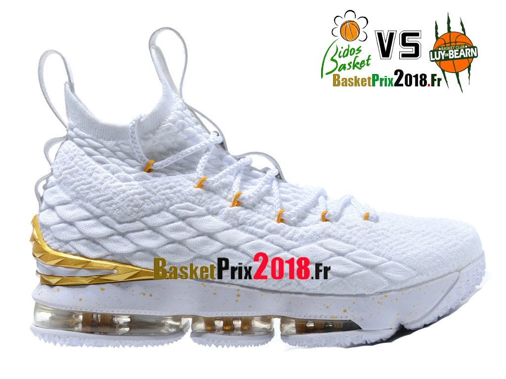 Chaussures Basket Prix Pas Cher Homme Nike LeBron 15XV Or