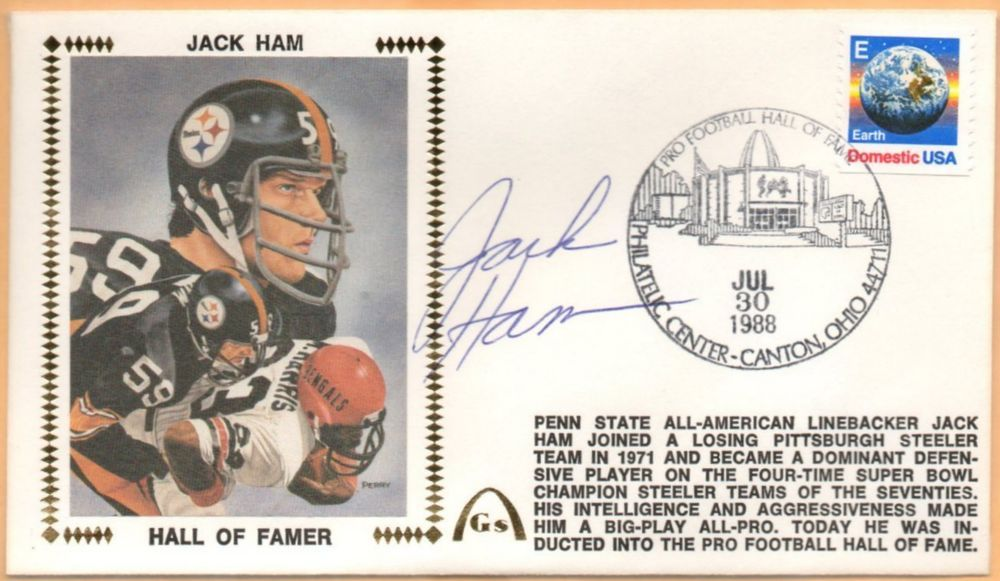 c4aecf0d94b Jack Ham BLEM Hall Of Fame Signed Gateway Stamp Envelope - Pittsburgh  Steelers  PittsburghSteelers