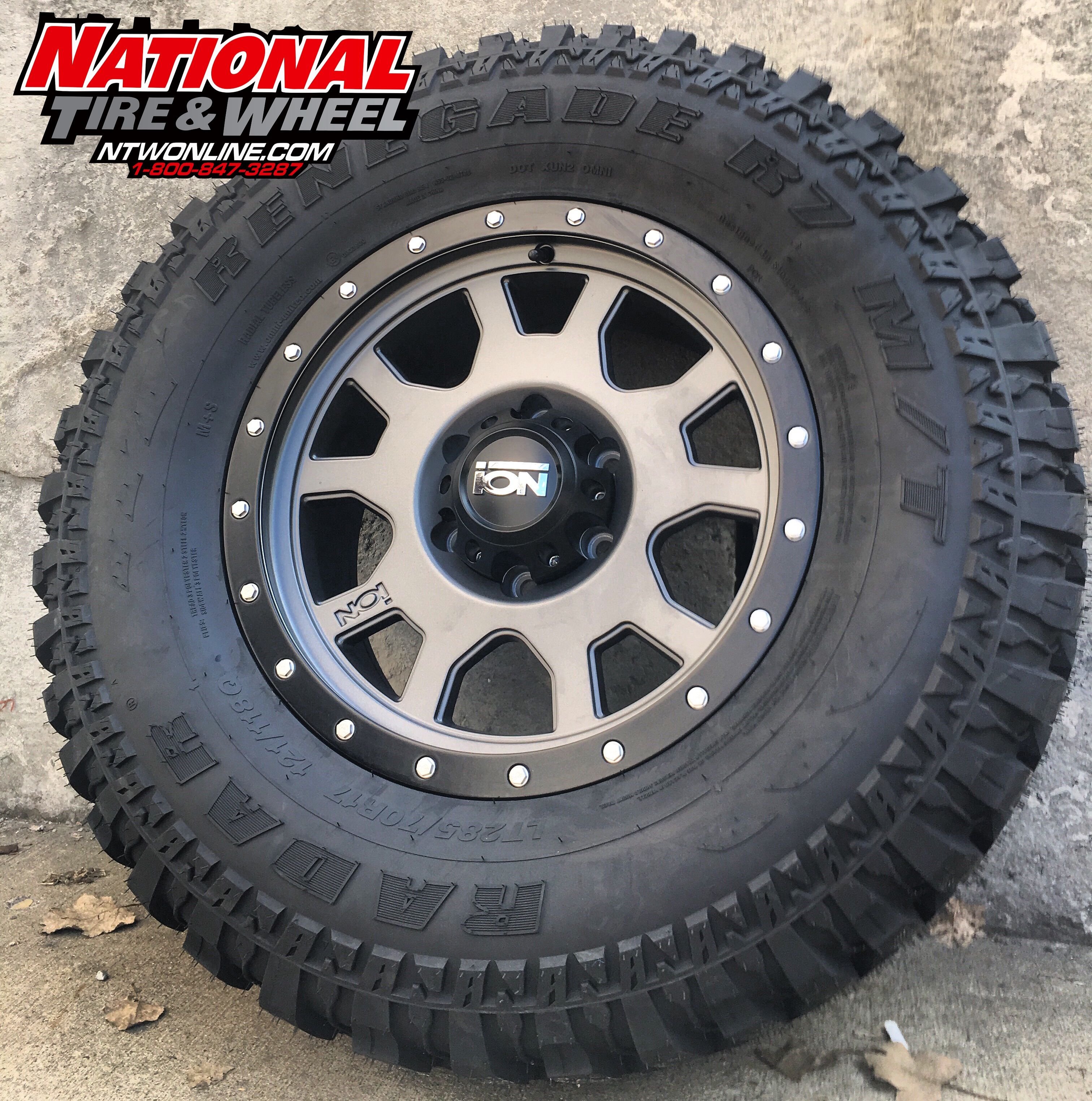 17x8 Ion Wheel Type 135 Matched Up To A 285 70r17 Renegade R7 M T