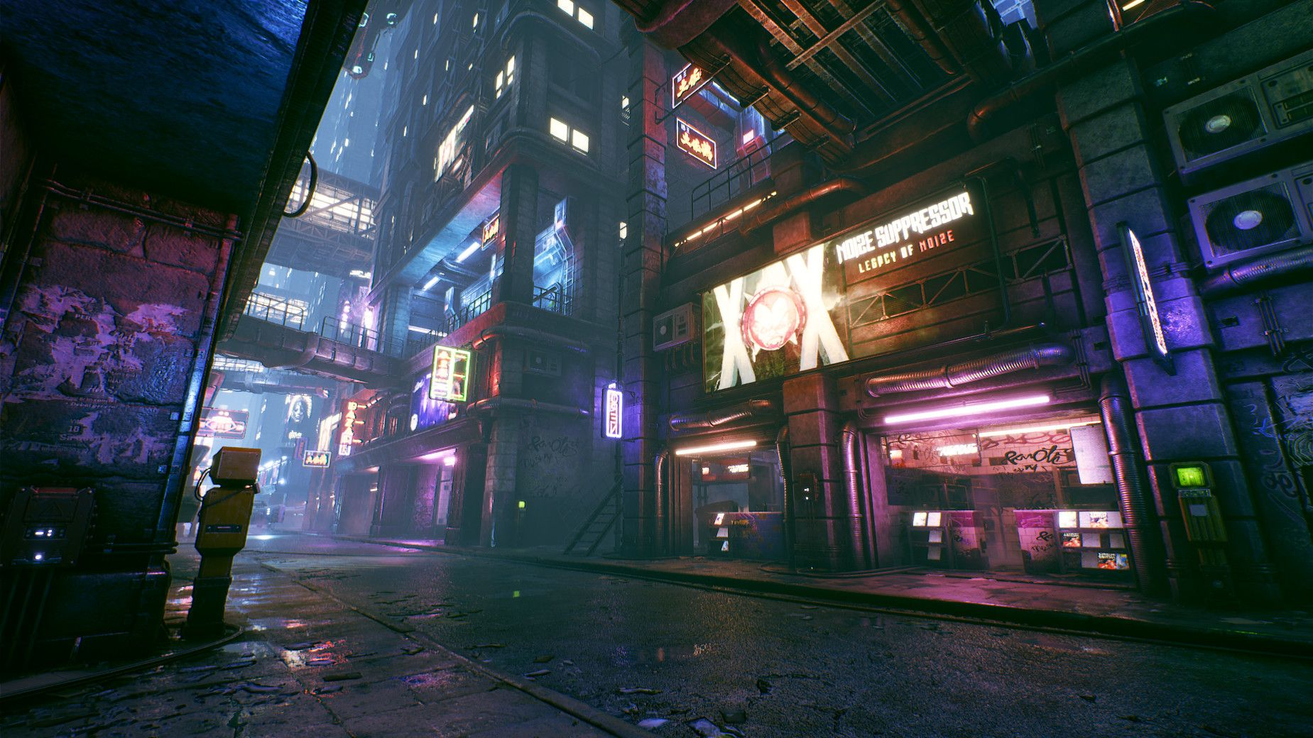Lights And Color In Cyberpunk Environments Miasto