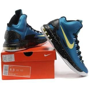 100% authentic c67f7 6999c www.asneakers4u.com Nike Zoom KD V Women Shoes Blue Yellow Black