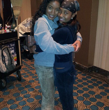 "Keke Palmer with ""Chili"" She portray her *chili* for a movie"