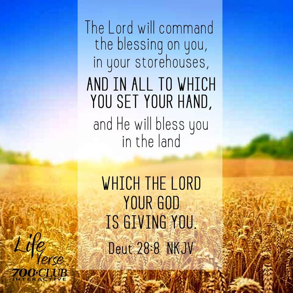 Dueteronomy 28 8 Inspirational Scripture Encouraging Scripture Purpose Driven Life