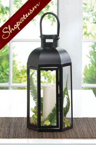12 Wholesale Lanterns Black Dome Lanterns Medium Centerpieces