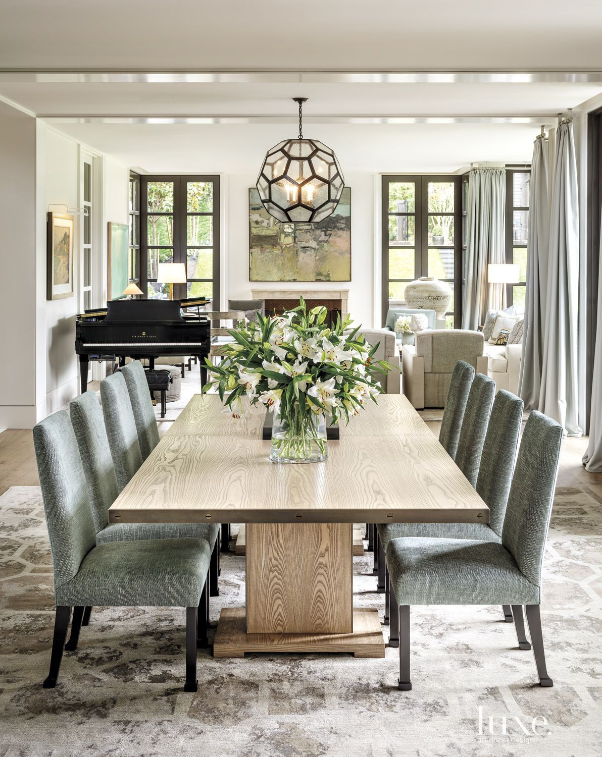 Designer Dining Room Furniture: A Bright Contemporary Broadmoor Dwelling