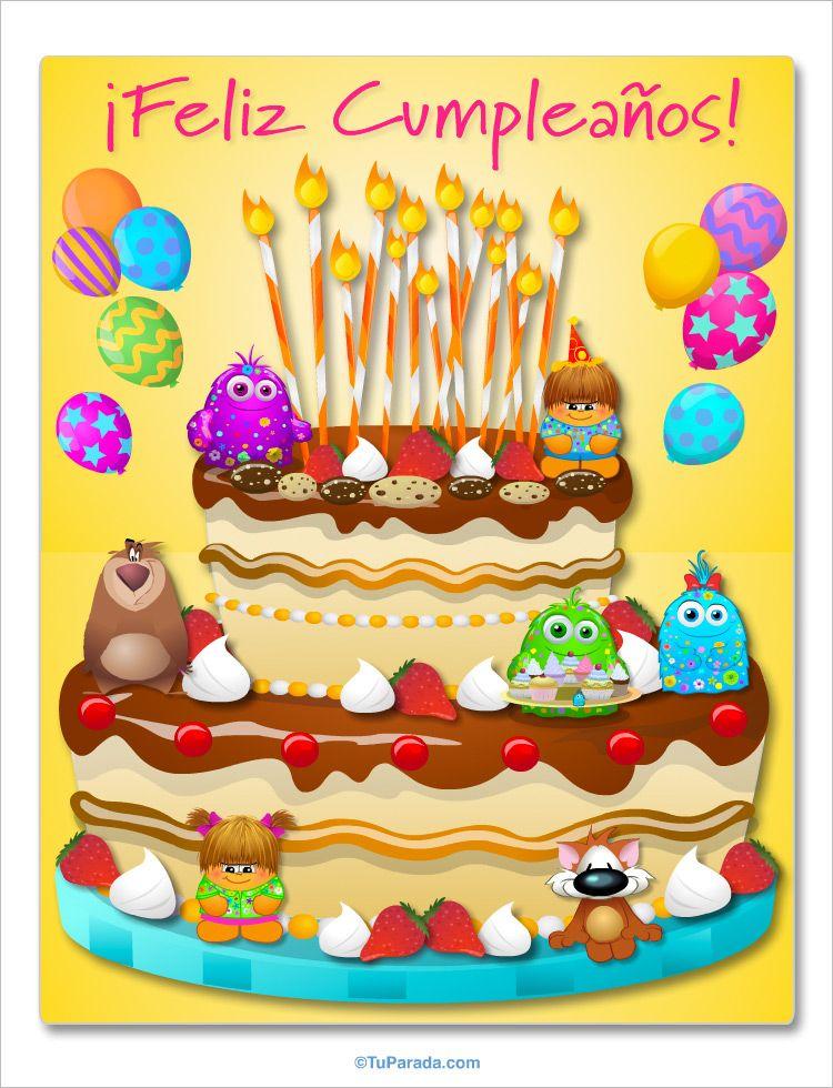 Fiesta De Cumpleaños Imágenes De Cumpleaños Tarjetas Postales Gratis Feliz Día Nomb Imagenes Tortas De Cumpleaños Imágenes De Cumpleaños Fiesta Cumpleaños