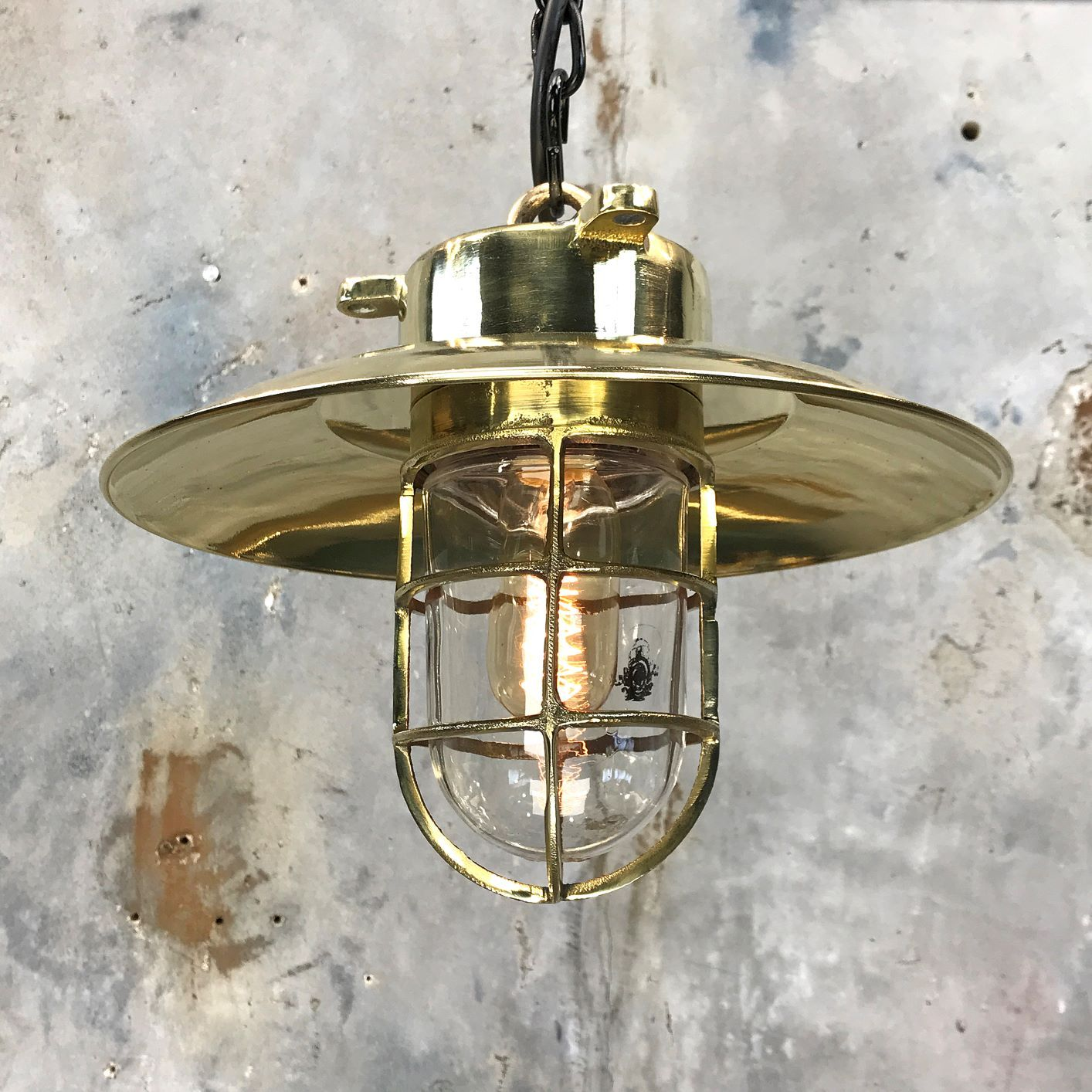 Explosion Proof Brass Cage Light in 2020 Brass cage