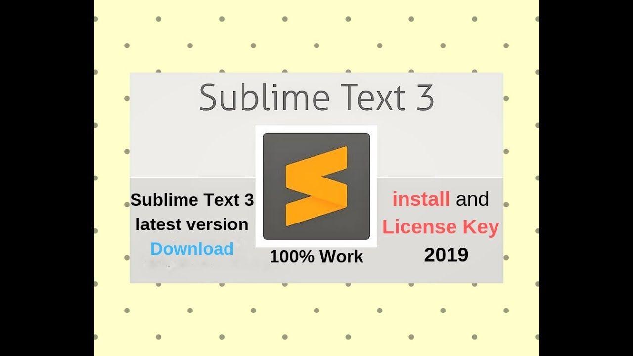 sublime key 2019