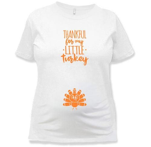 abc12eef1d21f MATERNITY - Thankful For My Little Turkey - TEP-1598 Maternity Tees, Pregnancy  Shirts