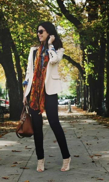 Look: Camila Coutinho - Blazer Bicolor