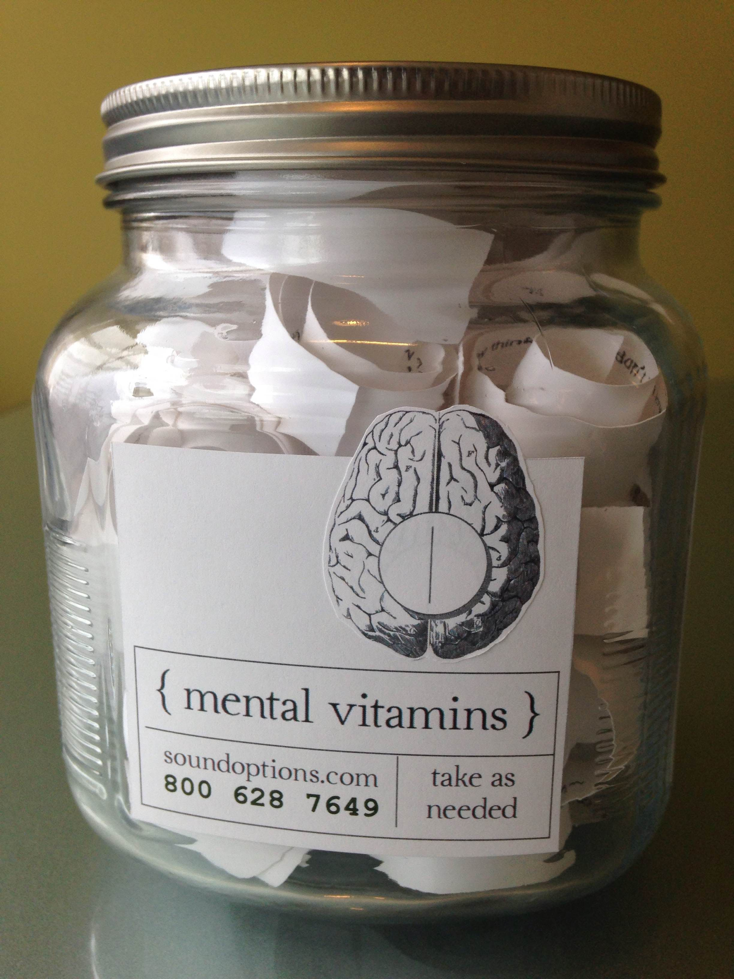 Quotes Jar Mental Vitamins Fill A Jar With Rolled Up Quotes To Act As