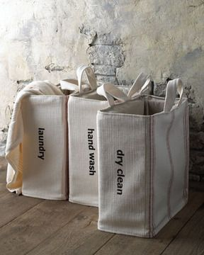 "French Laundry Home ""Hand Wash"" Tote - Red Stripe on shopstyle.com"