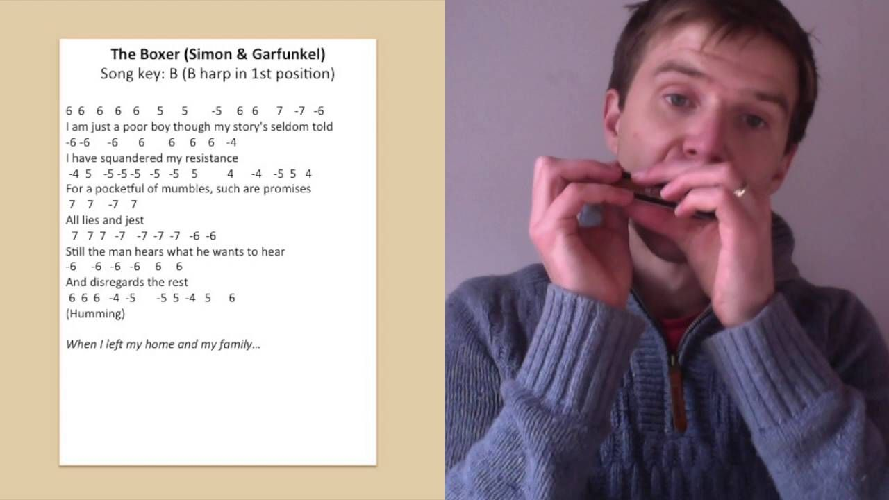 The Boxer (Simon and Garfunkel) harmonica lesson