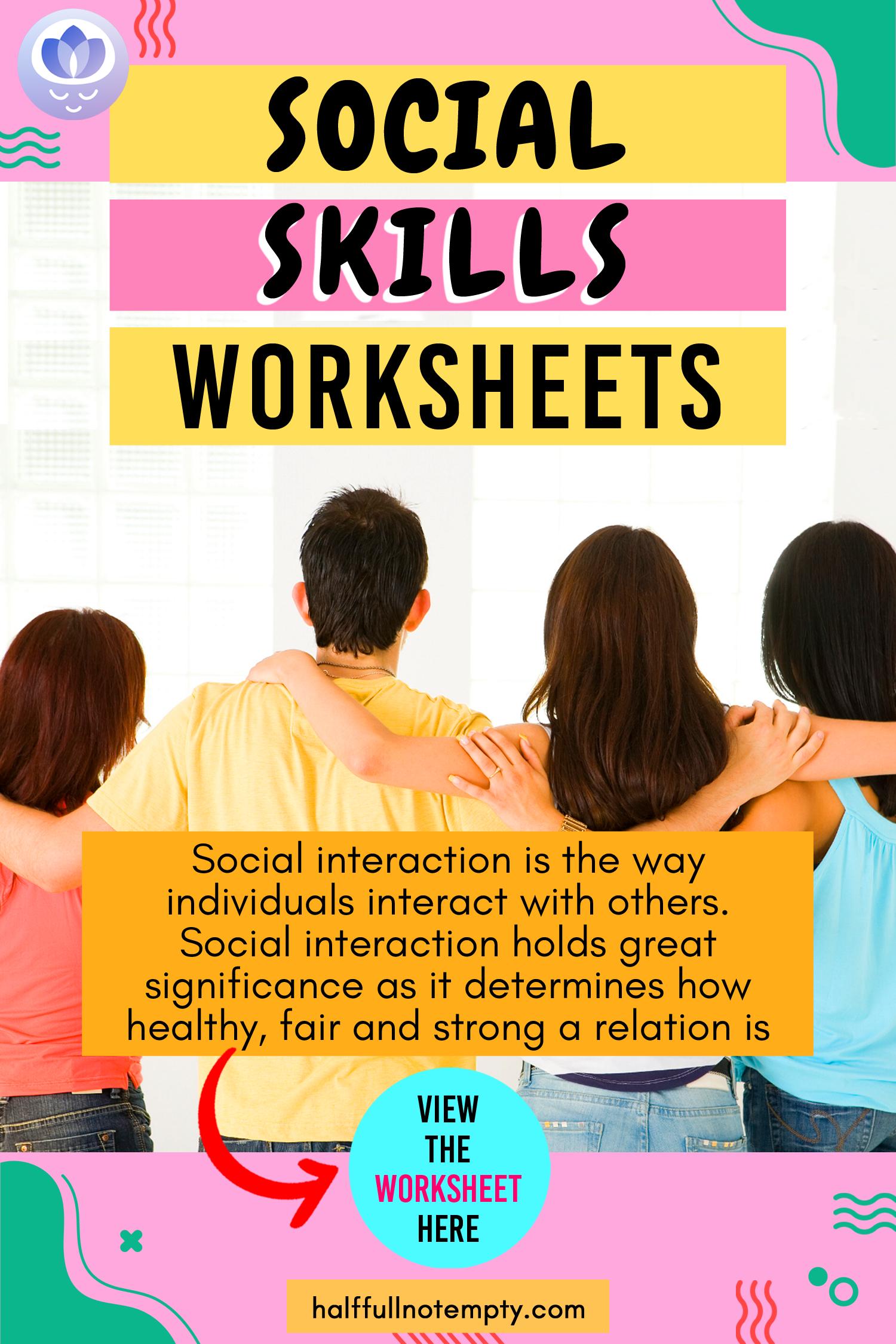9 Social Skills Worksheets In
