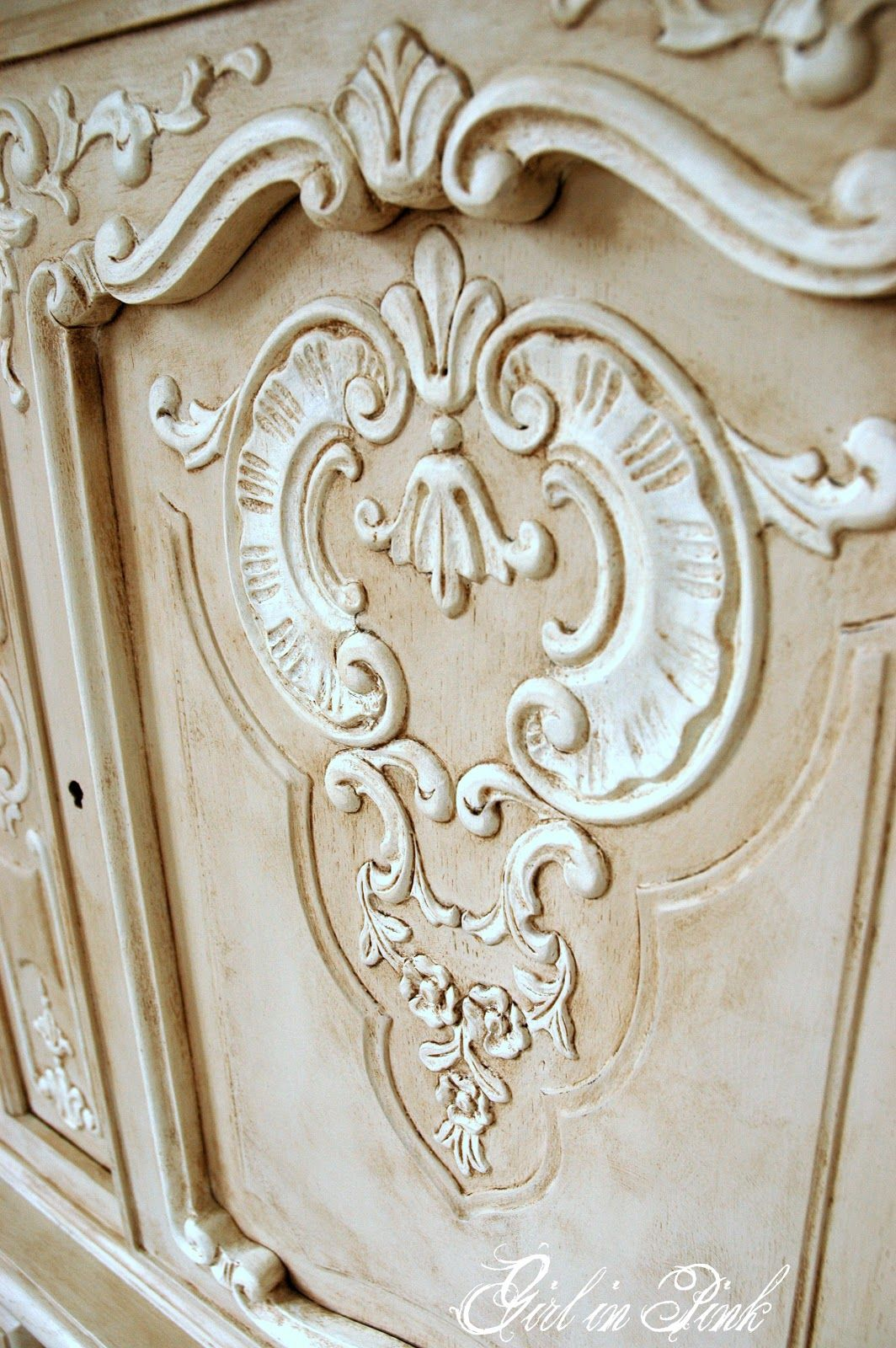 French Details - Cabinet Makeover In Chalk Paint