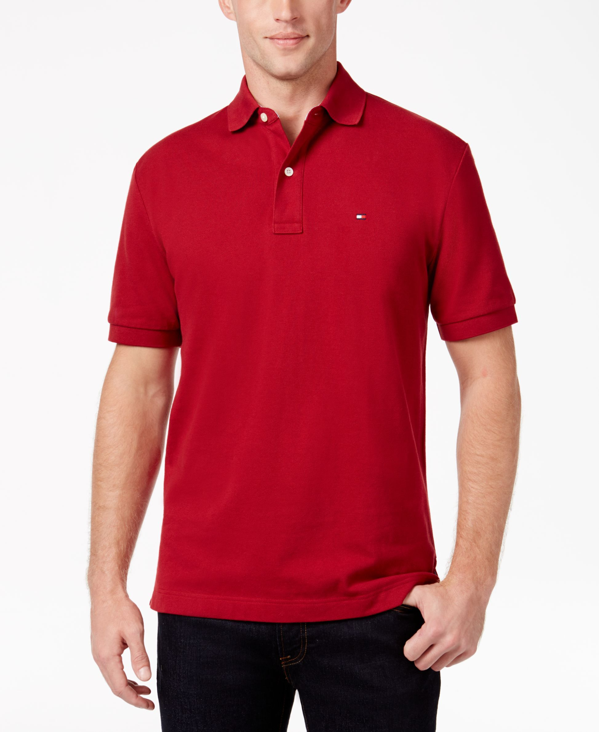 4aaea7d634e81 Tommy Hilfiger Men s Classic-Fit Ivy Polo