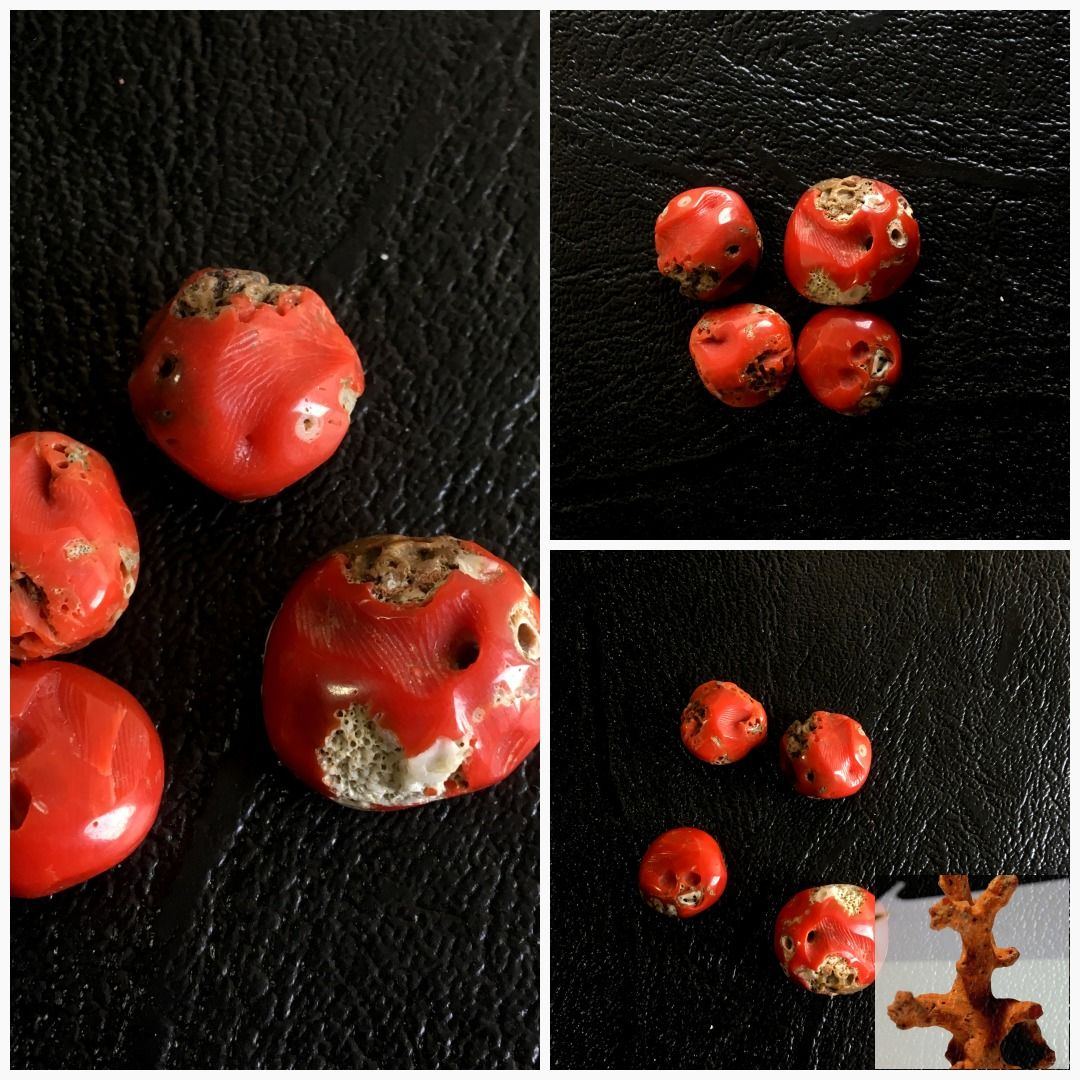A Quality beautiful Italian red coral loose cabochon antique gemstone
