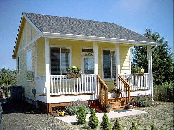 400 Ft 1 Bedroom Tiny Cottage With Porch With Images Tiny Cottage Small Cottages Little Cottages