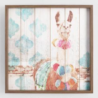 Happy Llama Framed Print On Wood Wall Art Wood Wall Art Wall Art Living Room Modern Wall Decor