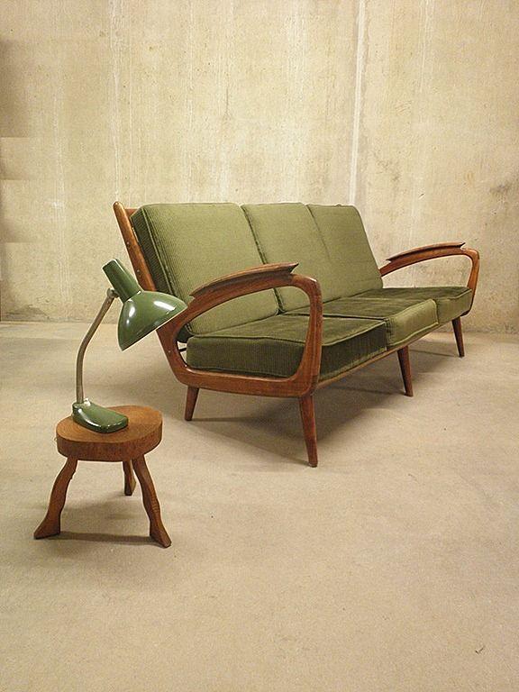 Design Vintage Bank.Mid Century Vintage Design Bank Sofa Deense Stijl Sophia