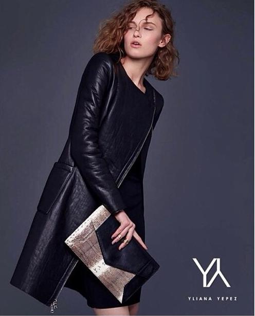 YY Classics   SCARLETT Black/Natural Leather & Water Snake   #YYScarlett #YYClassics