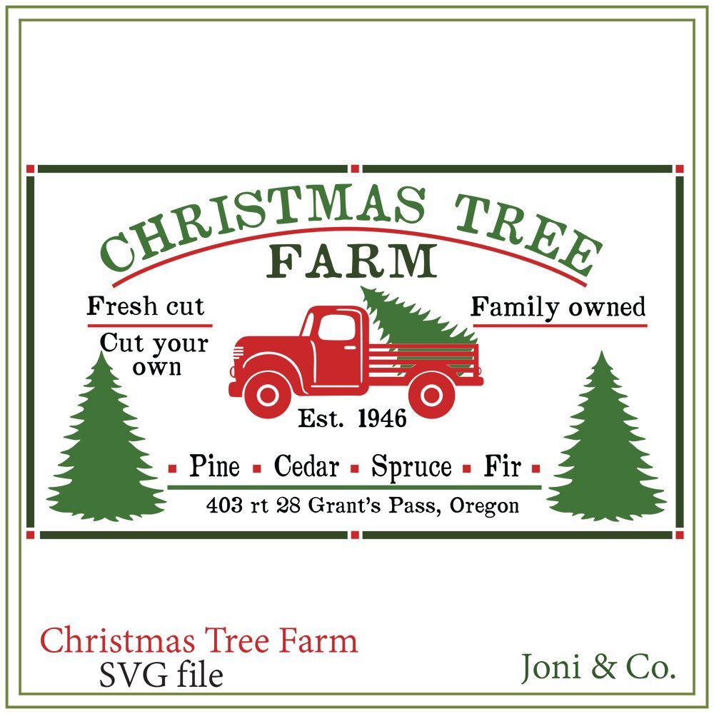 Christmas Tree Truck Farm Sign Svg Red Truck Svg Rustic Etsy Christmas Tree Truck Christmas Farm Christmas Tree Farm