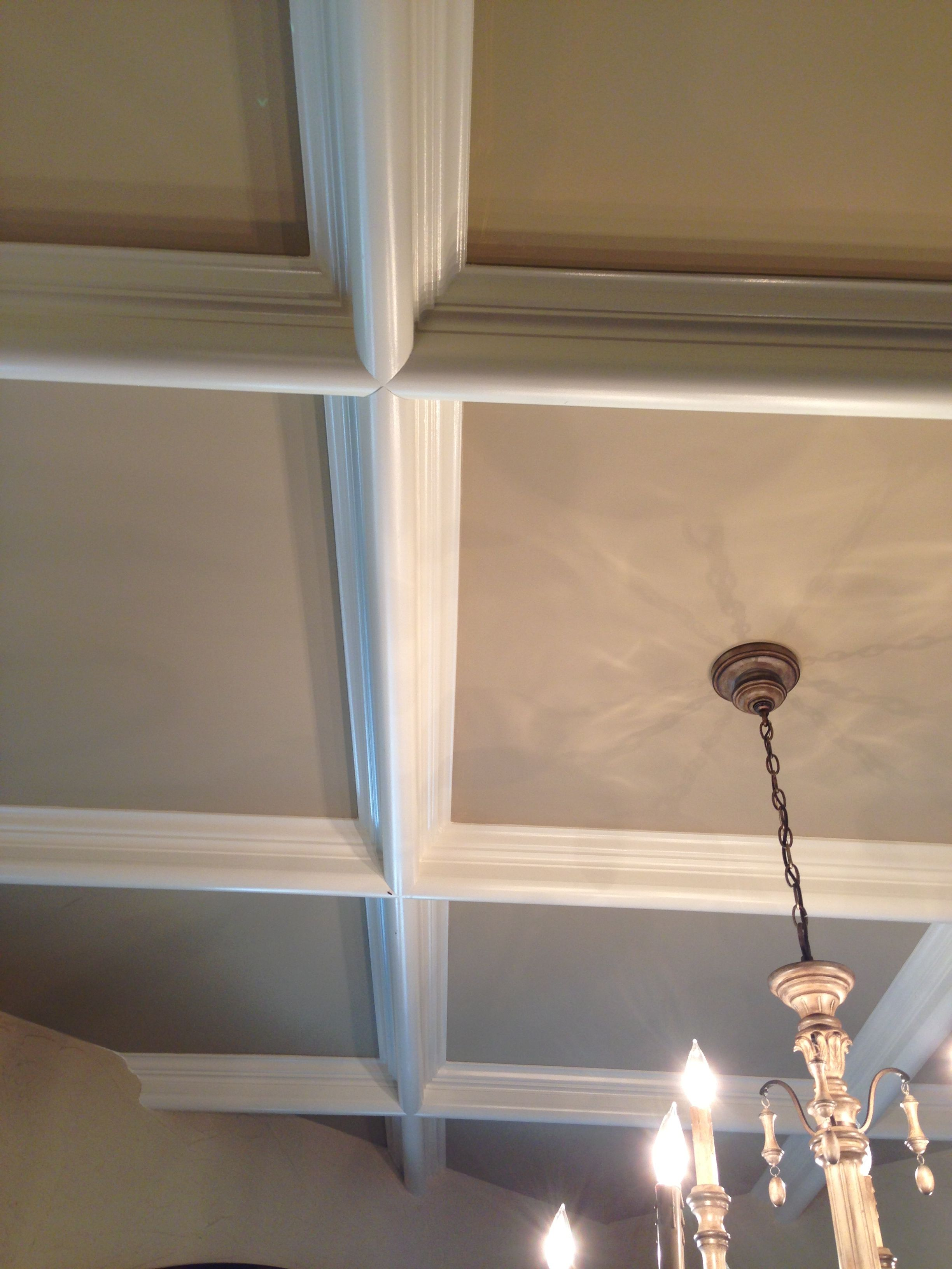 Coffered ceiling coffered ceiling diy kitchen