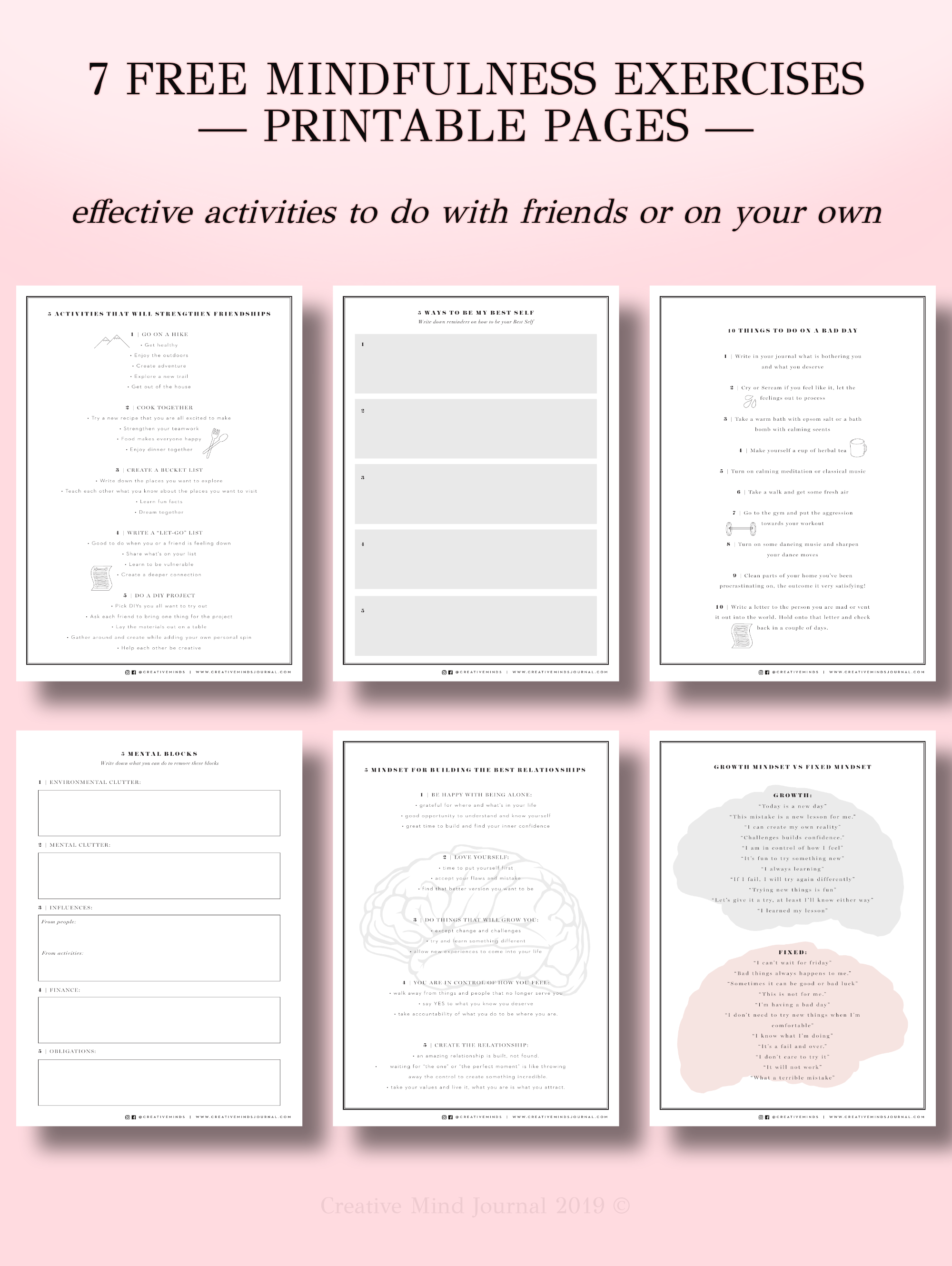 Free Printable Worksheets For Your Journal
