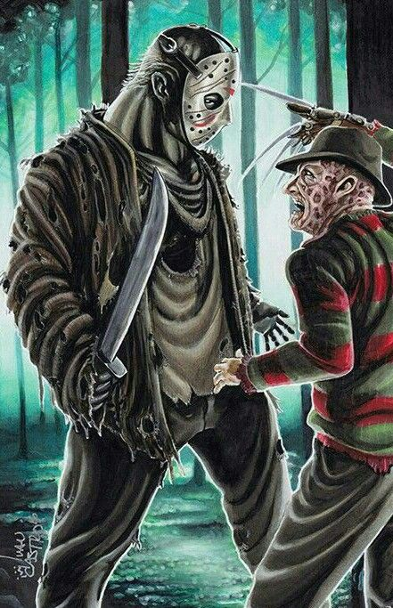 Freddy V Jason With Images Horror Movie Icons Horror Artwork
