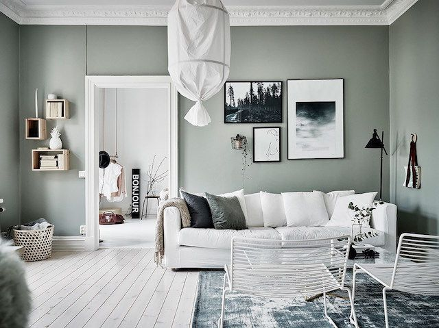 Color inspo crush on sage green wohnzimmer for Grune wandfarbe schlafzimmer