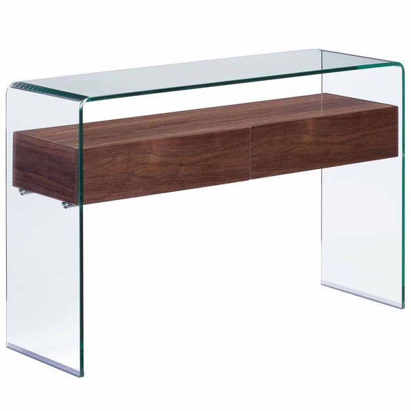 Zuo Modern Console Table ($1,436) ❤ liked on Polyvore featuring home, furniture, tables, accent tables, zuo table, zuo furniture and zuo